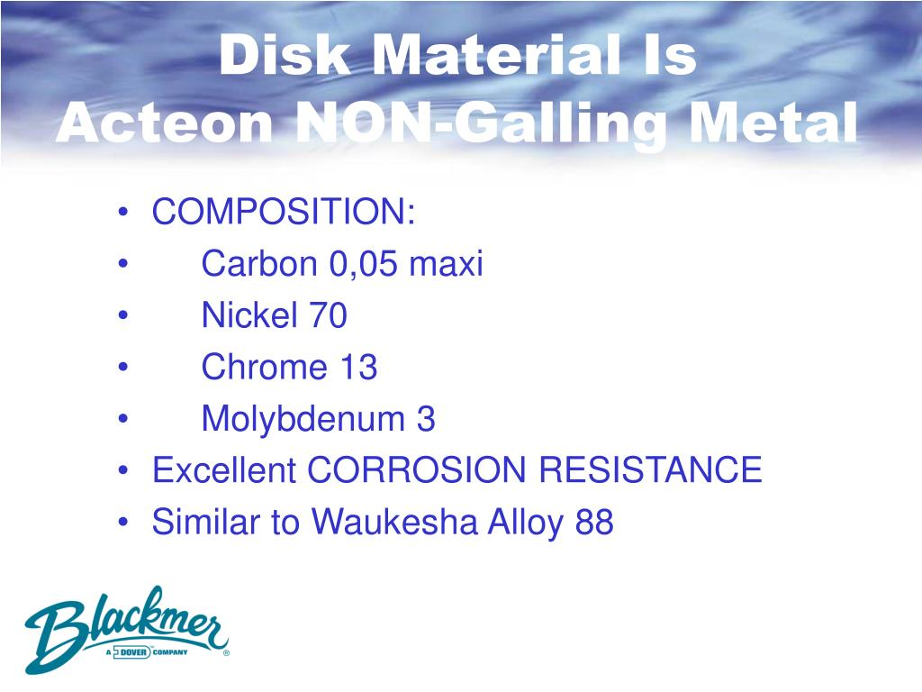 Disk Material Is