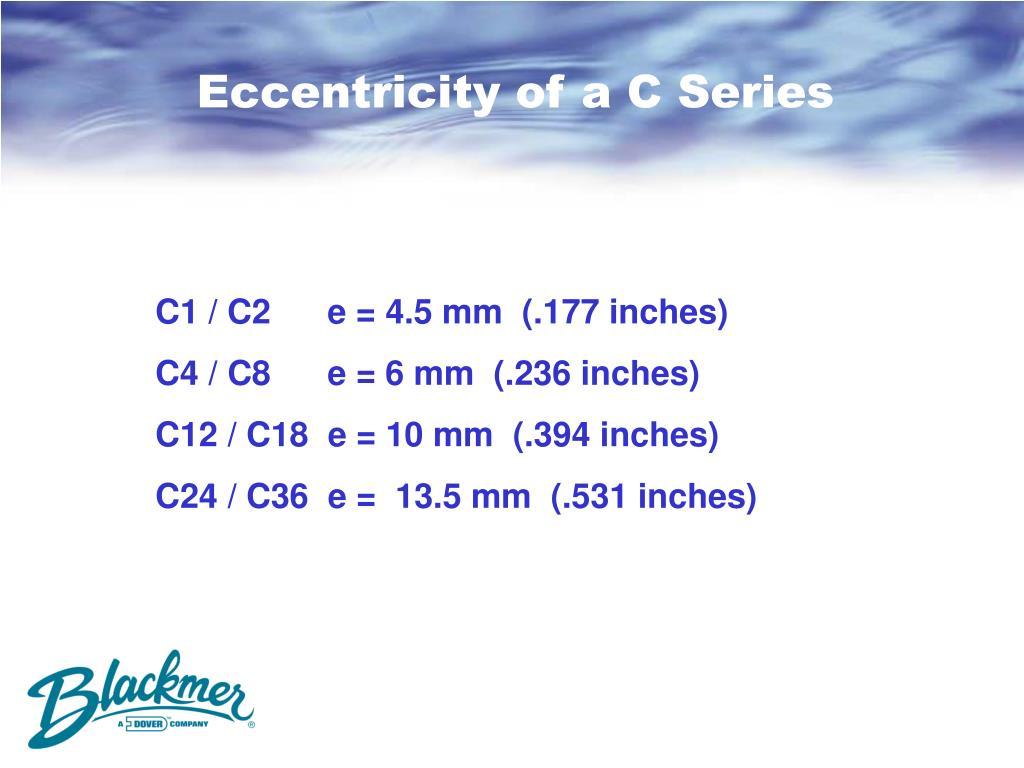 Eccentricity of a C Series