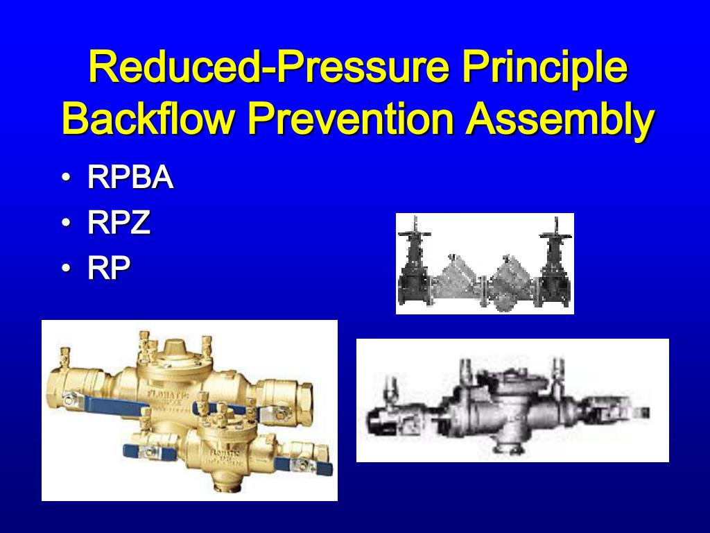 Reduced-Pressure Principle Backflow Prevention Assembly