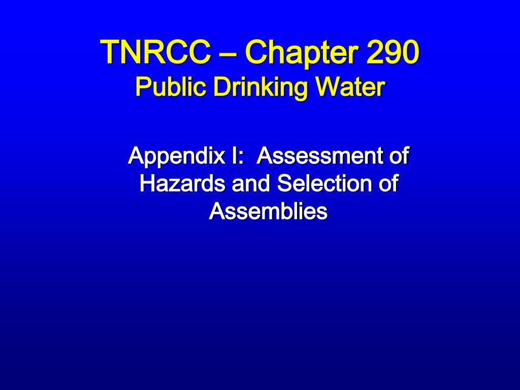 TNRCC – Chapter 290