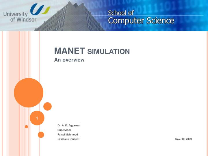 Manet simulation