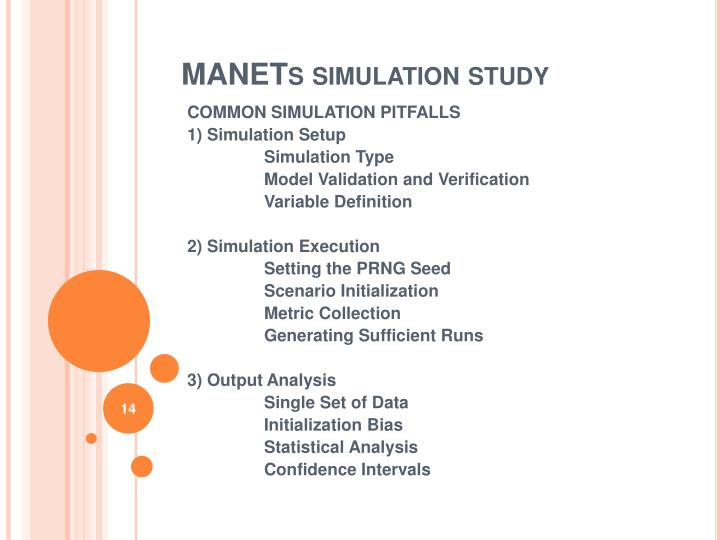 MANETs simulation study