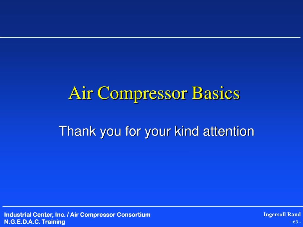Air Compressor Basics