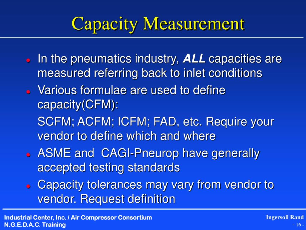 Capacity Measurement
