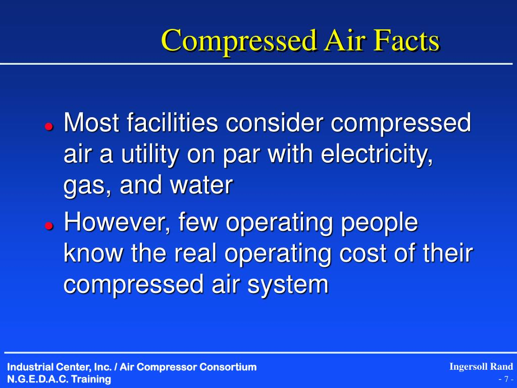 Compressed Air Facts