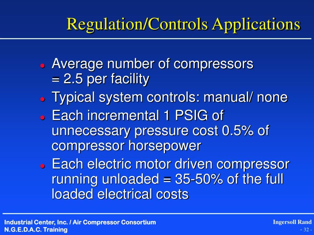 Regulation/Controls Applications