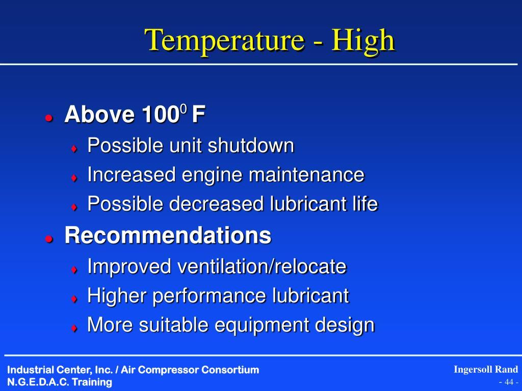 Temperature - High