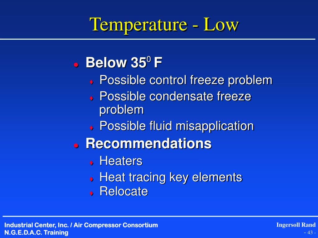 Temperature - Low