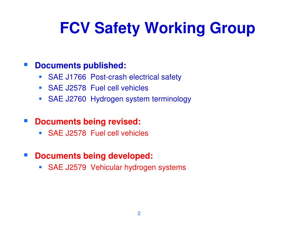 FCV Safety Working Group