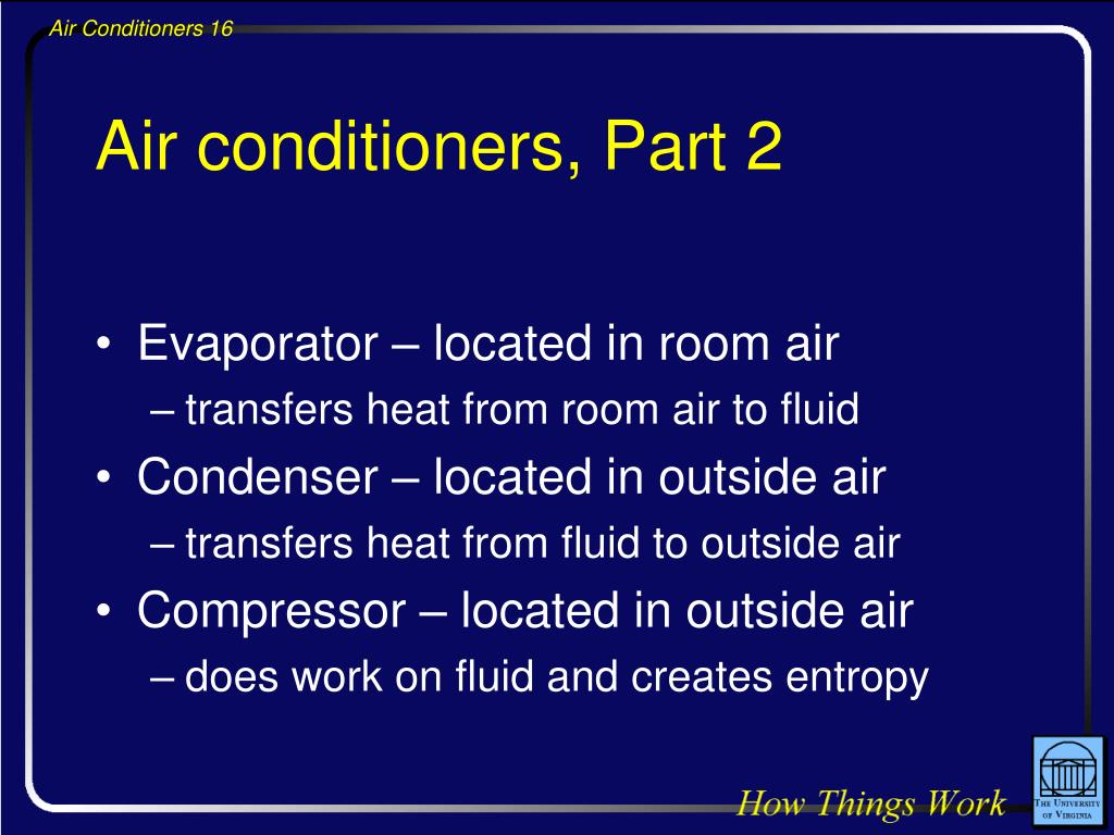 Air conditioners, Part 2