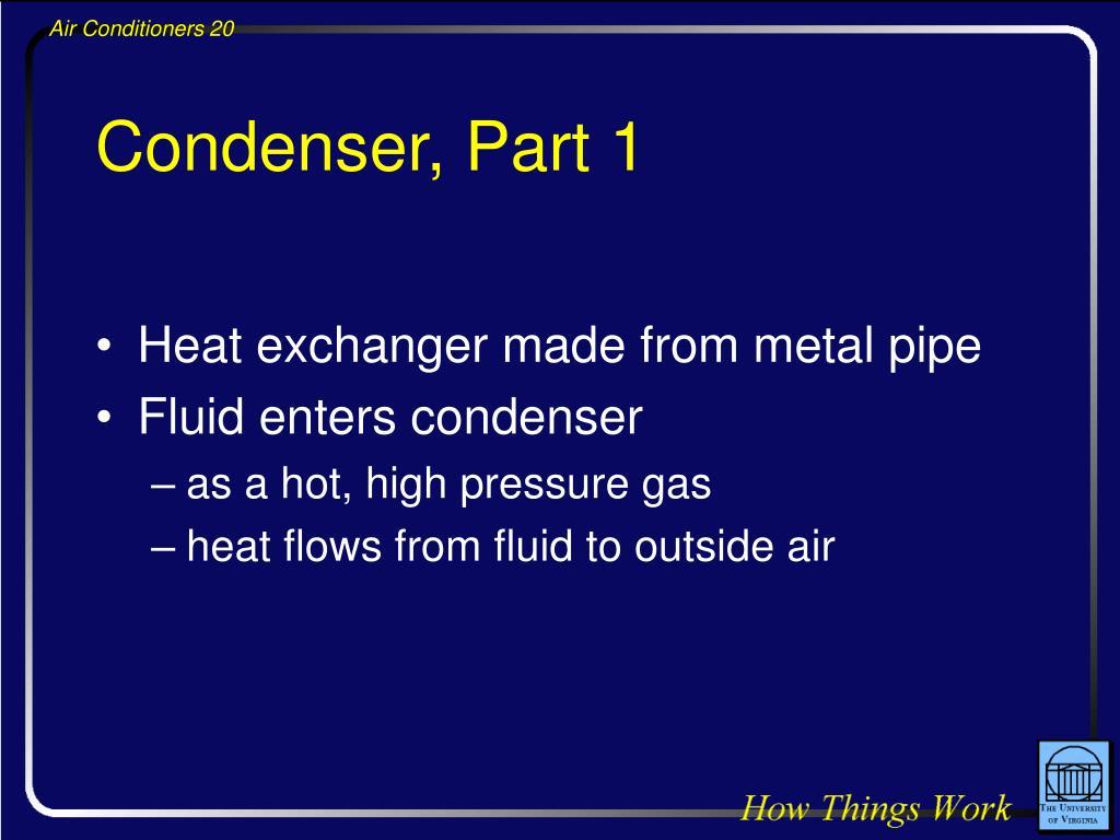 Condenser, Part 1