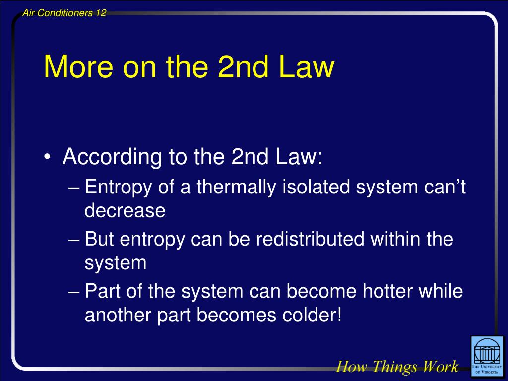 More on the 2nd Law