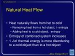 natural heat flow