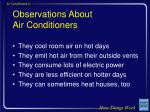 observations about air conditioners