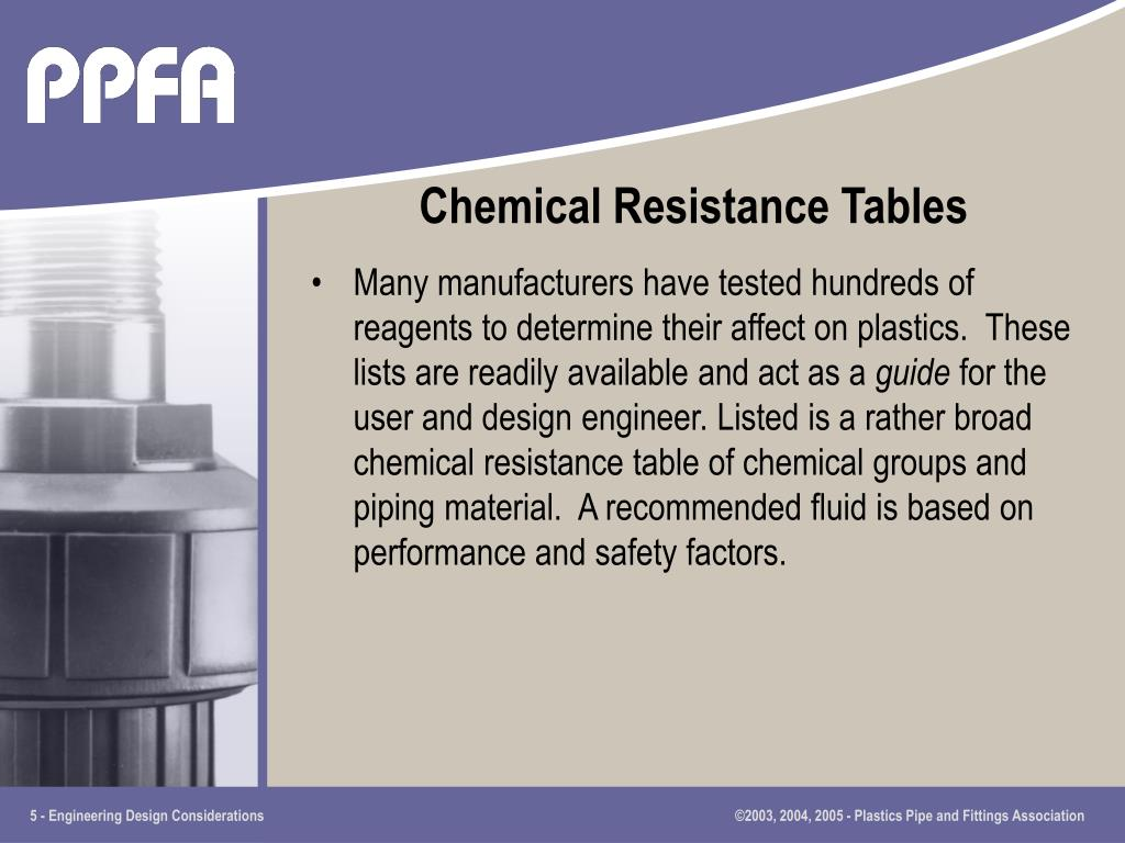 Chemical Resistance Tables