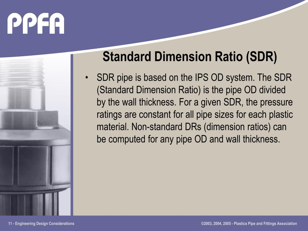 Standard Dimension Ratio (SDR)