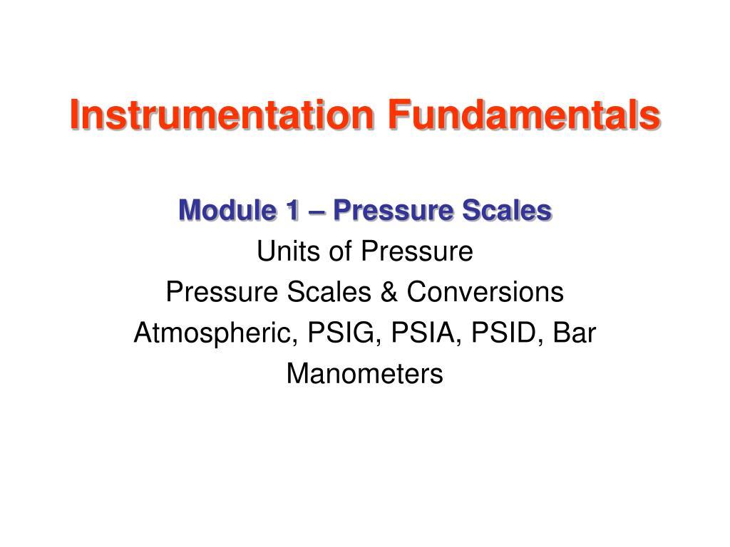 Instrumentation Fundamentals