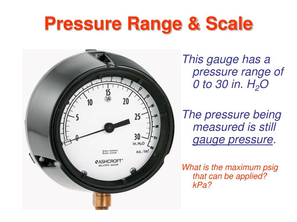 Pressure Range & Scale