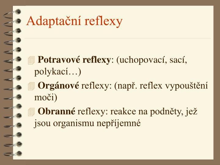Adaptační reflexy