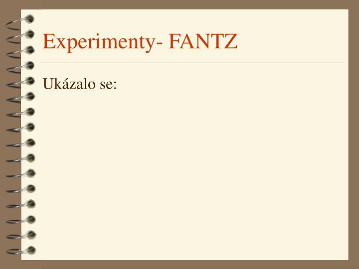 Experimenty- FANTZ