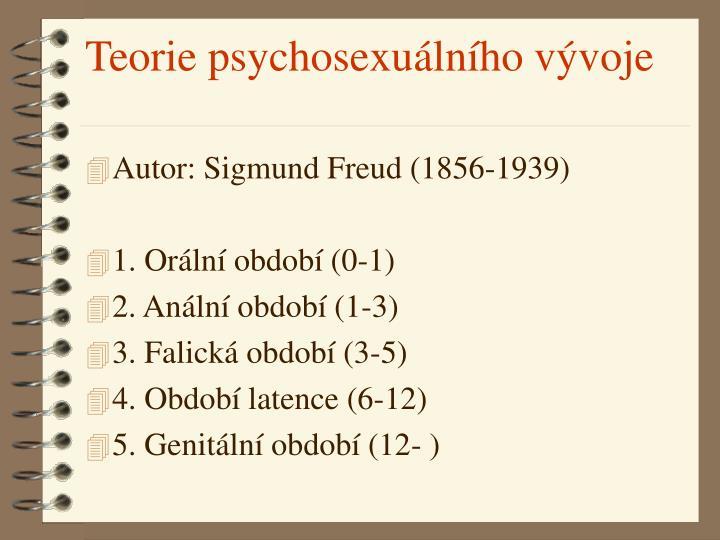 Teorie psychosexuálního vývoje
