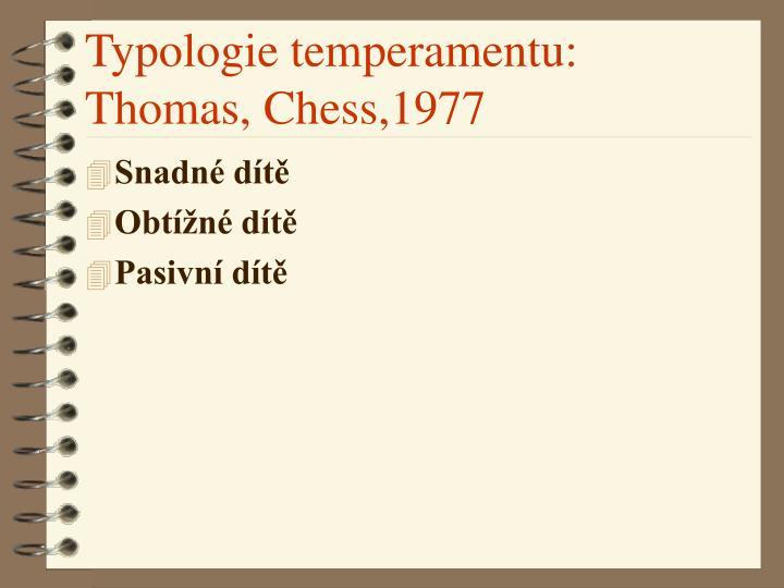 Typologie temperamentu: