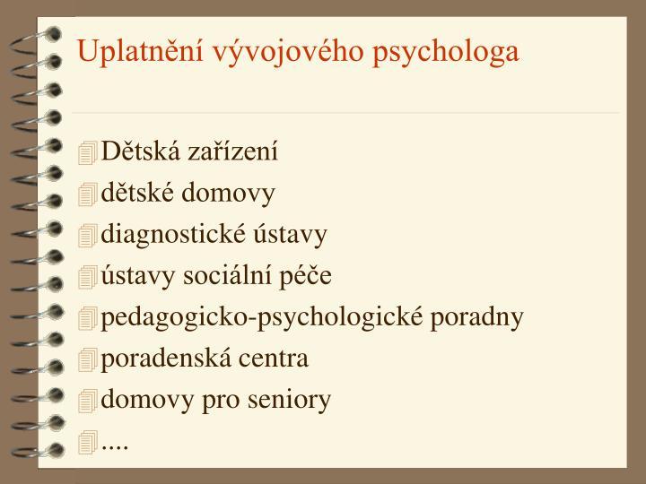 Uplatnění vývojového psychologa