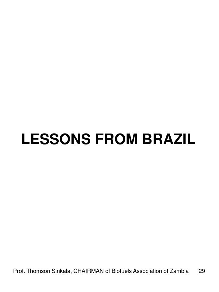 LESSONS FROM BRAZIL
