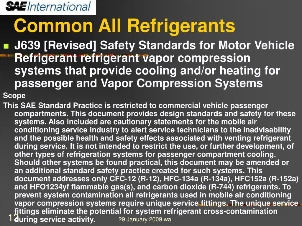 Common All Refrigerants