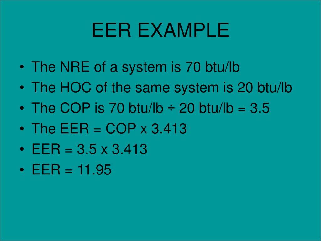 EER EXAMPLE