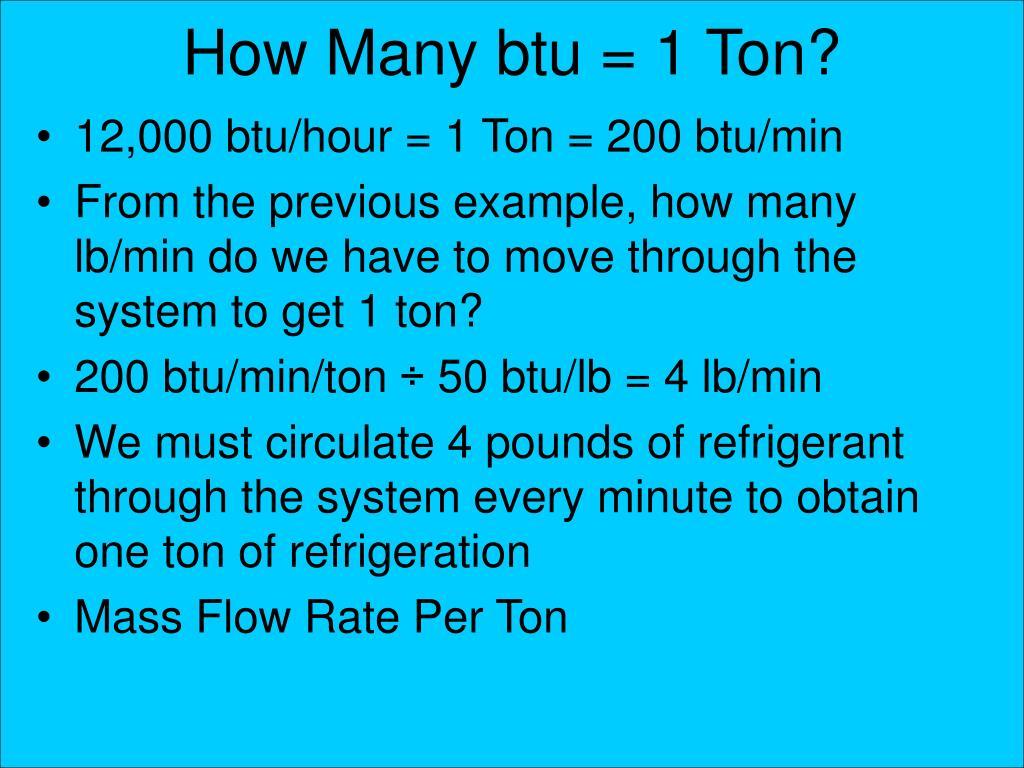 How Many btu = 1 Ton?