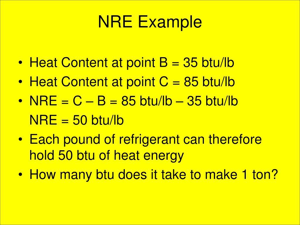 NRE Example