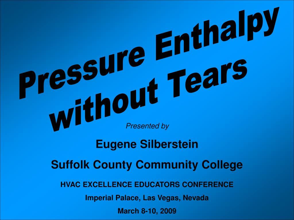 Pressure Enthalpy