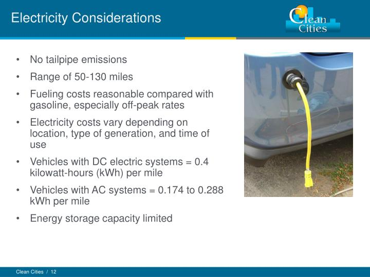 Electricity Considerations