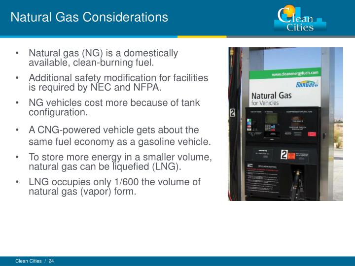 Natural Gas Considerations