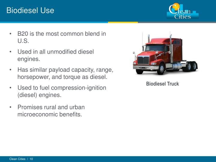 Biodiesel Use