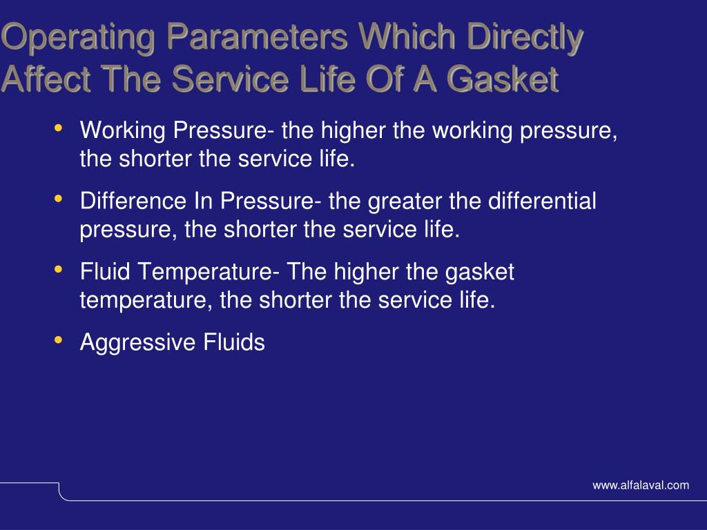 Operating Parameters Which Directly