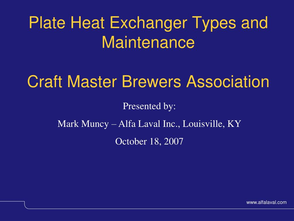 Plate Heat Exchanger Types and Maintenance