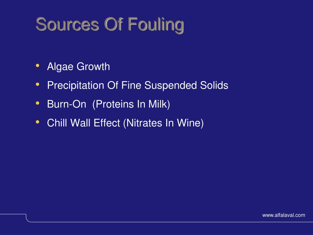 Sources Of Fouling