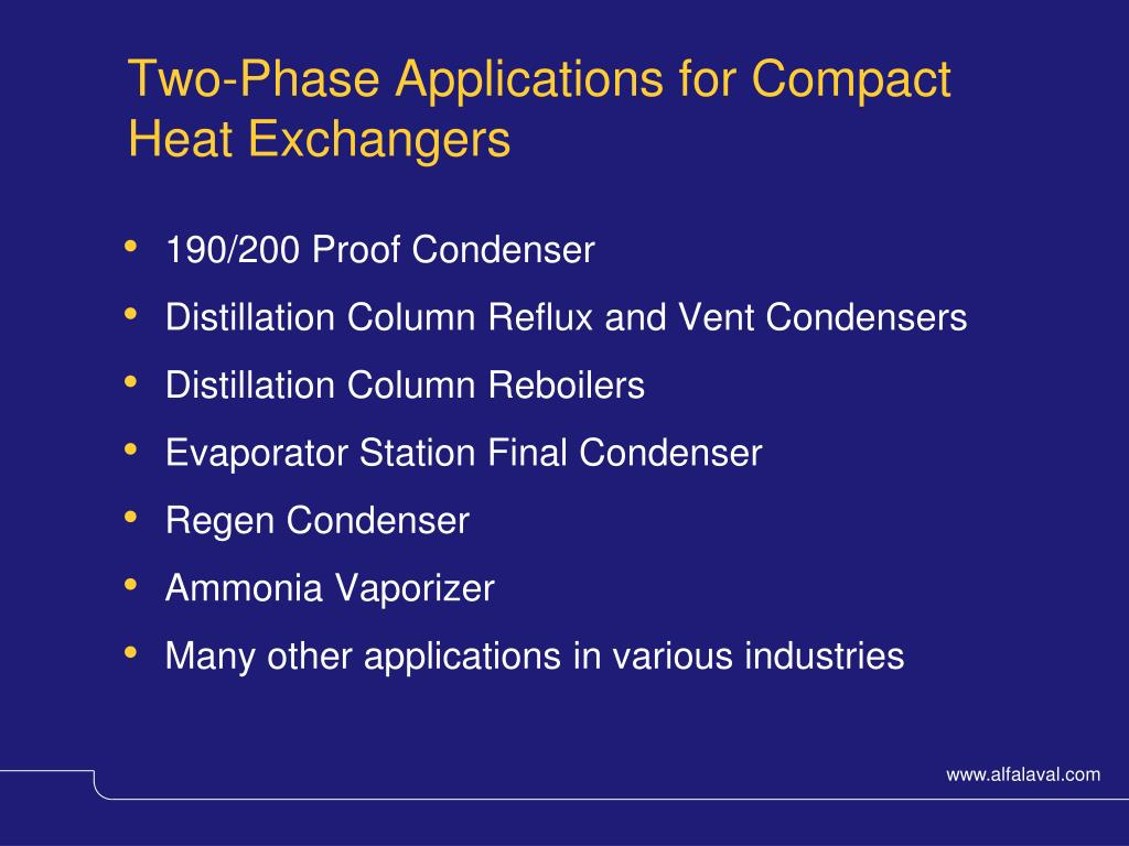 Two-Phase Applications for Compact Heat Exchangers