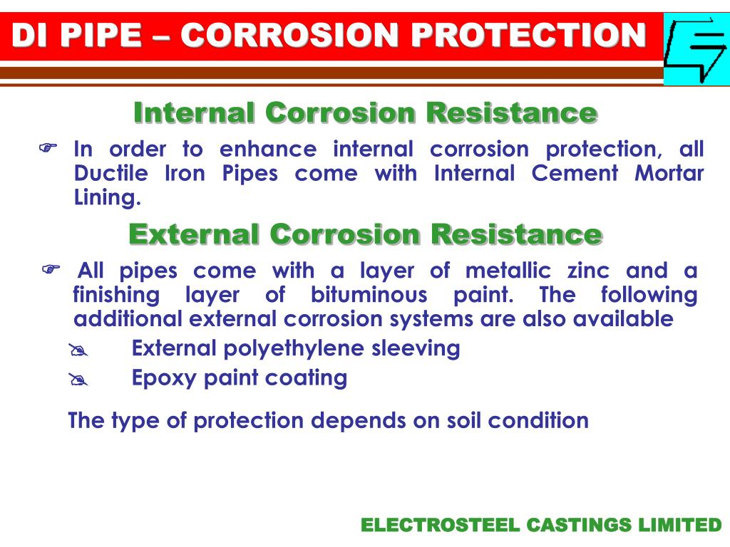 DI PIPE – CORROSION PROTECTION