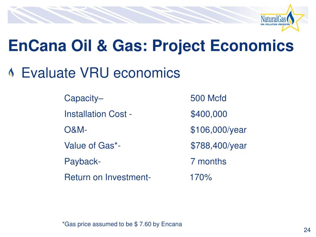 EnCana Oil & Gas: Project Economics
