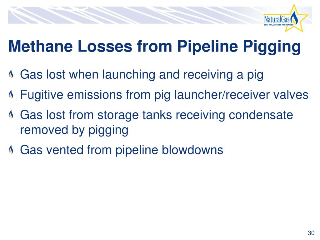 Methane Losses from Pipeline Pigging