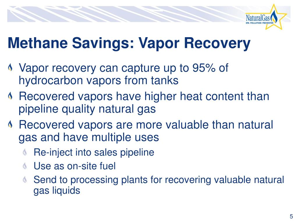 Methane Savings: Vapor Recovery
