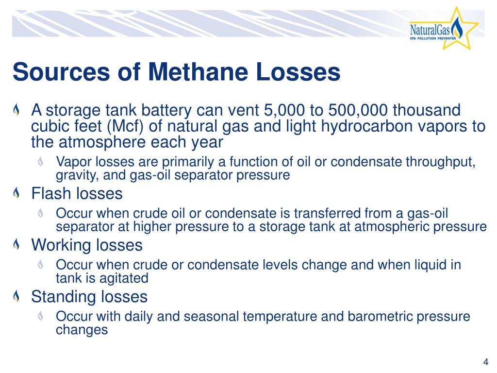 Sources of Methane Losses