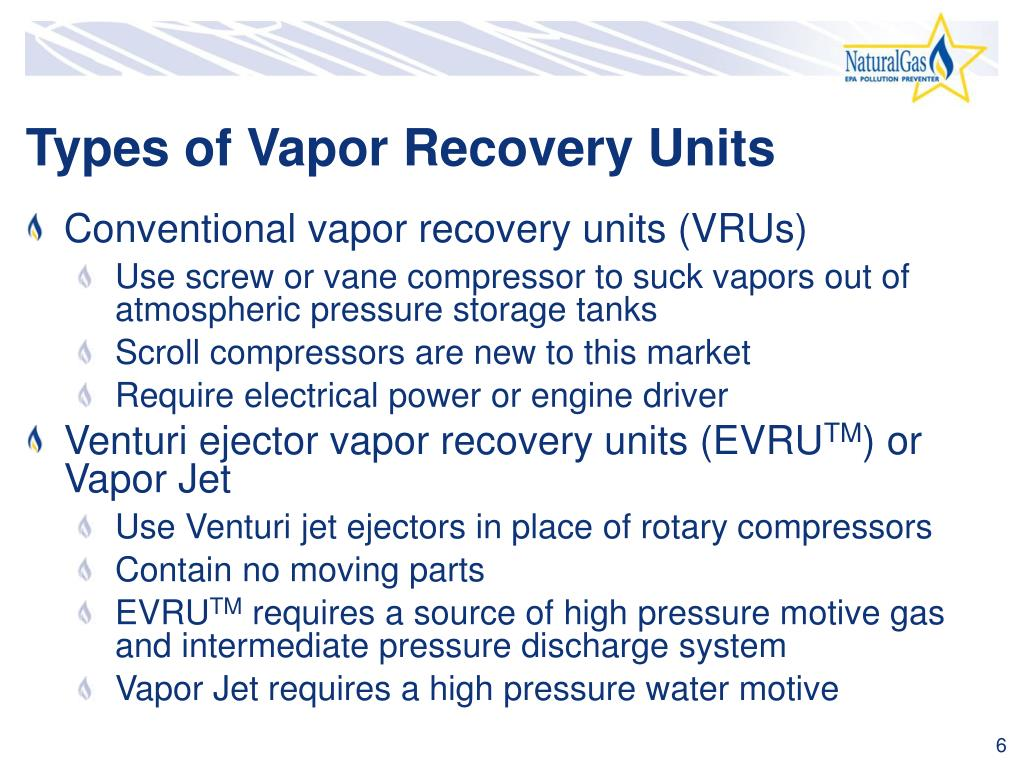 Types of Vapor Recovery Units