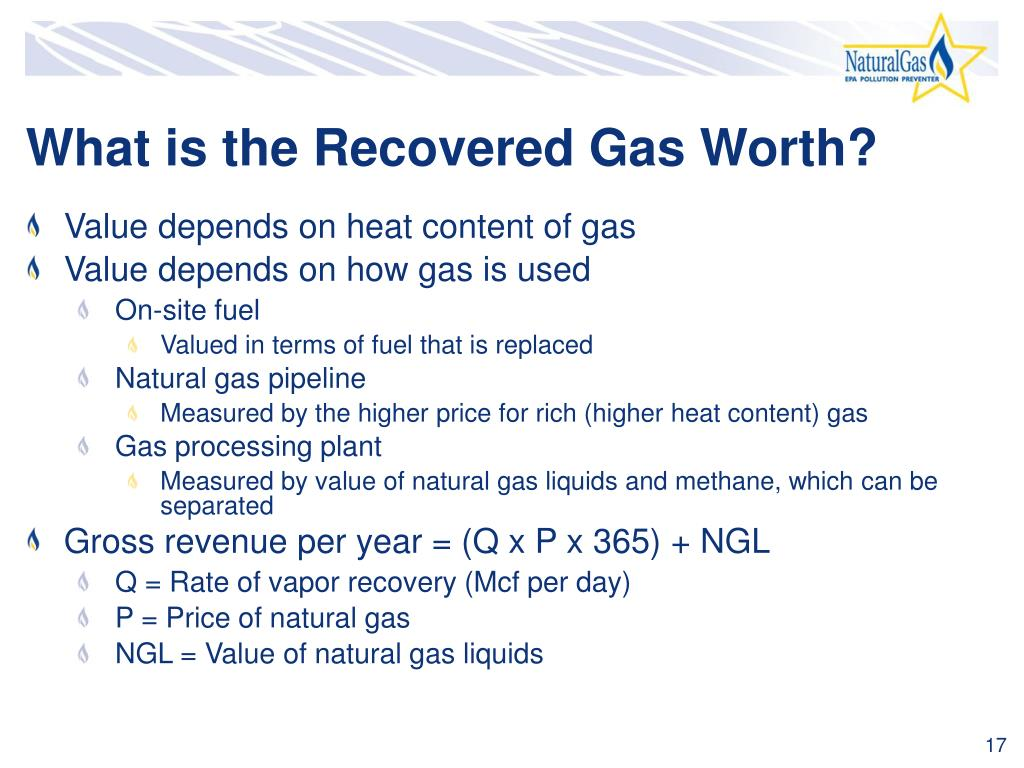 What is the Recovered Gas Worth?