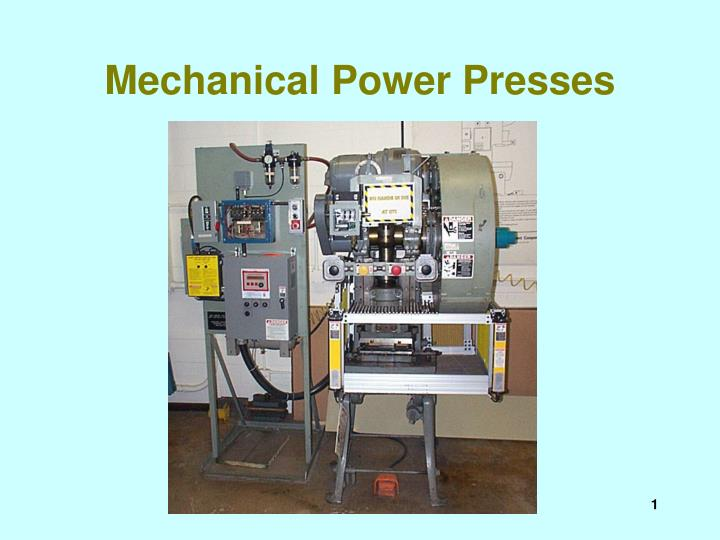 Mechanical power presses