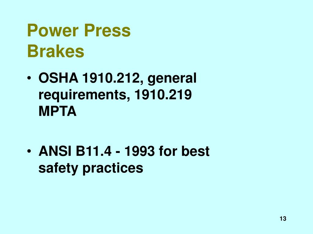 Power Press Brakes