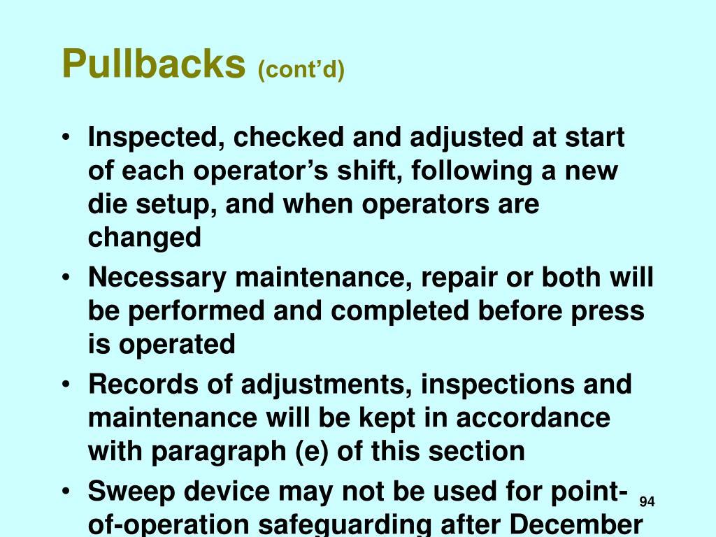 Pullbacks